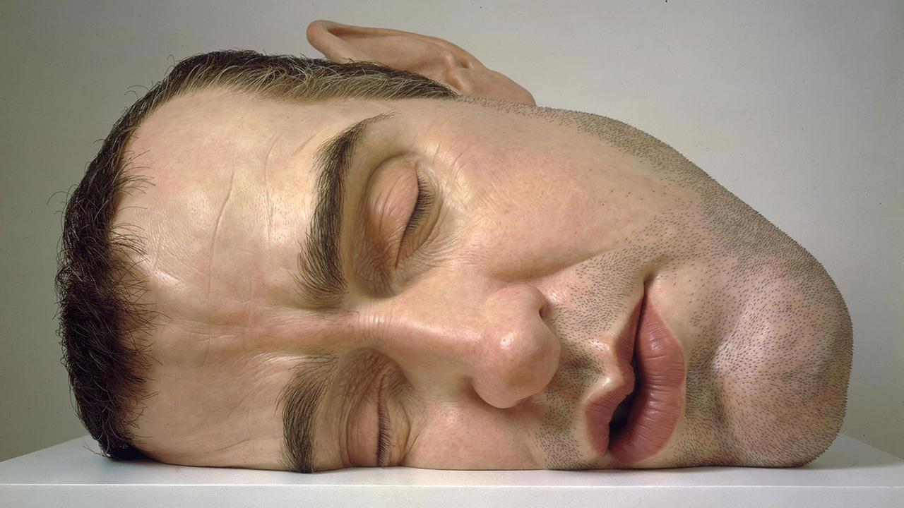 Ron Mueck, Mask II, 2001-02, mixed media, Gift of Helen and Charles Schwab through the Art Supporting Foundation to the San Francisco Museum of Modern Art.  Ron Mueck
