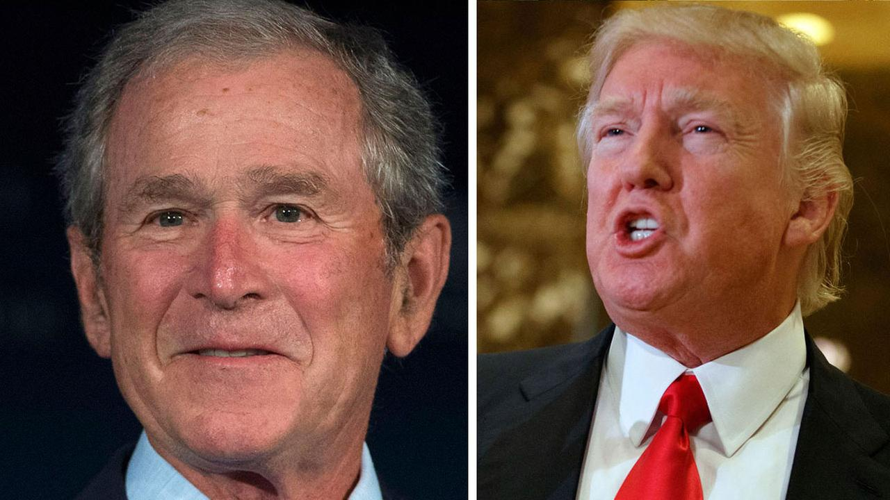 George W. Bush and Donald Trump