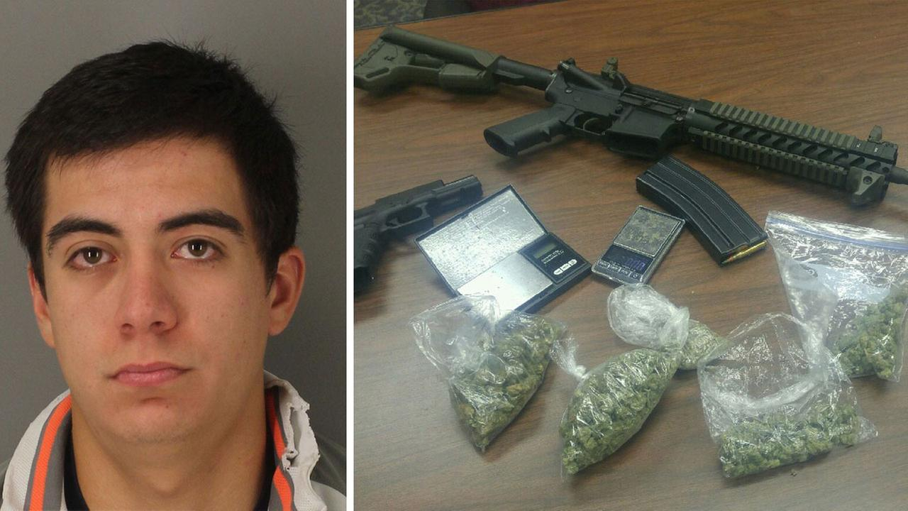 Elias Vasquez, 21, has been arrested on drug charges.
