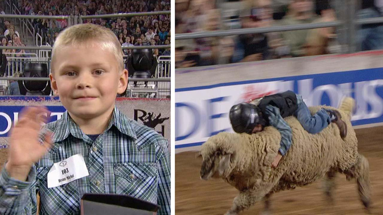 Mutton Bustin on Sunday at RodeoHouston