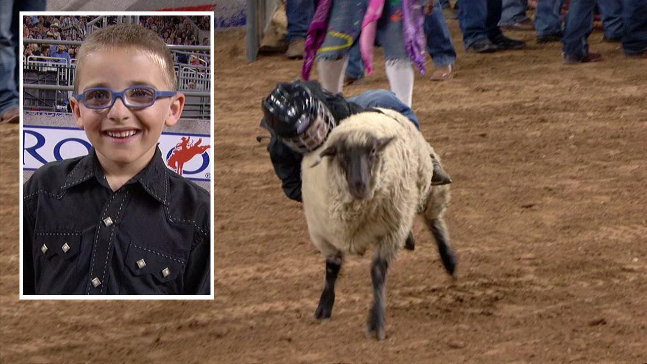 JJ Mutton Bustin at RodeoHouston