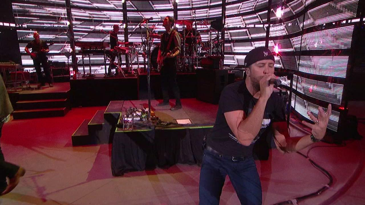 Luke Bryan performs at RodeoHouston