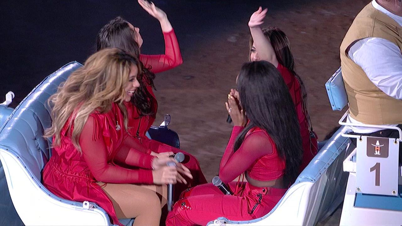 Fifth Harmony performs on the stage at RodeoHouston.
