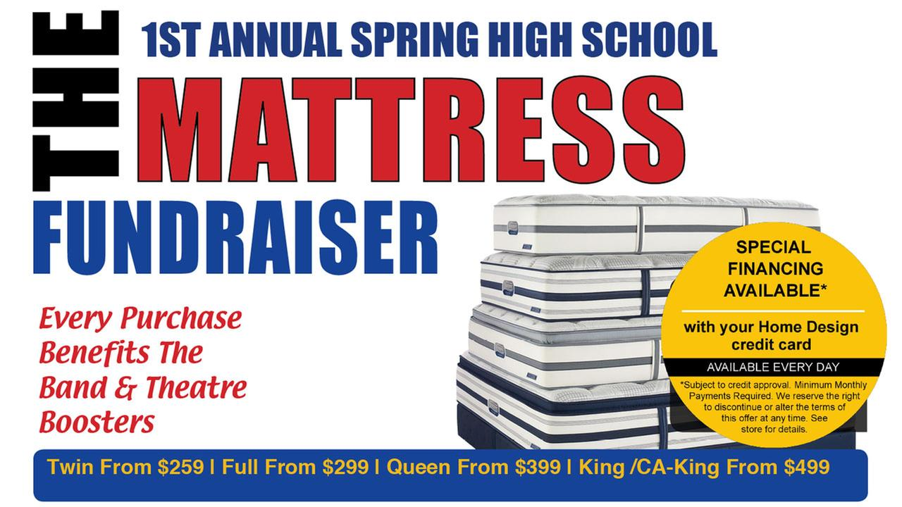 A local high school is selling mattresses to fund arts programs.