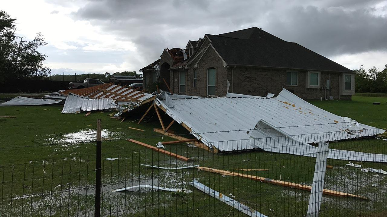 Storm damage in Chambers County