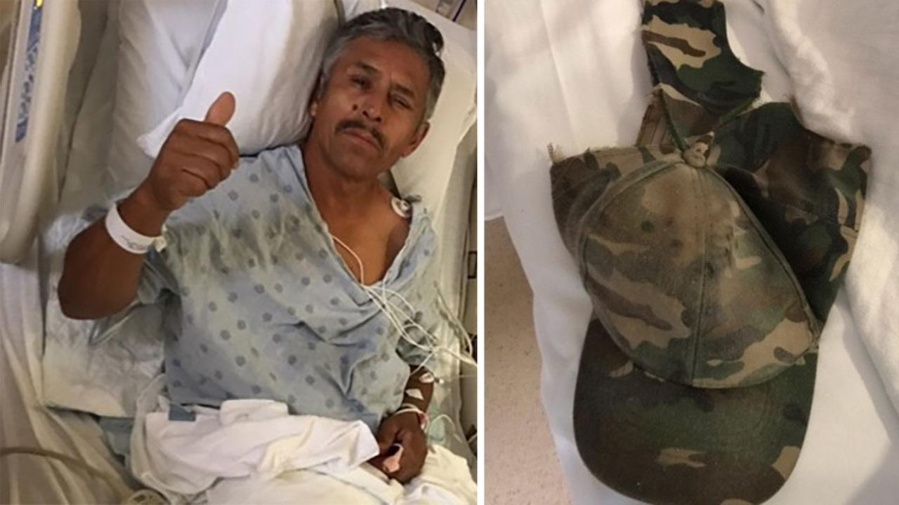 Fernando Perez is recovering in the ICU after being struck by lightning while working on the roof of a home during a storm.