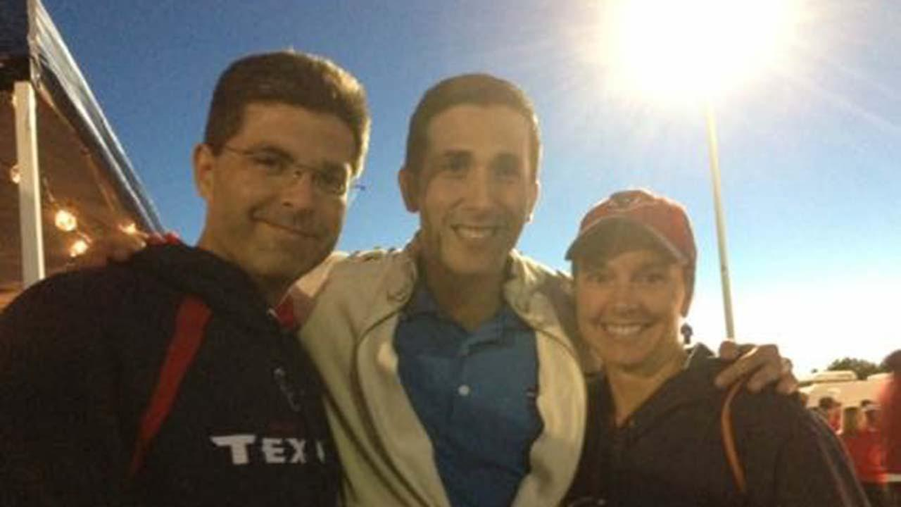 David Nuno with his brother and sister-in-law