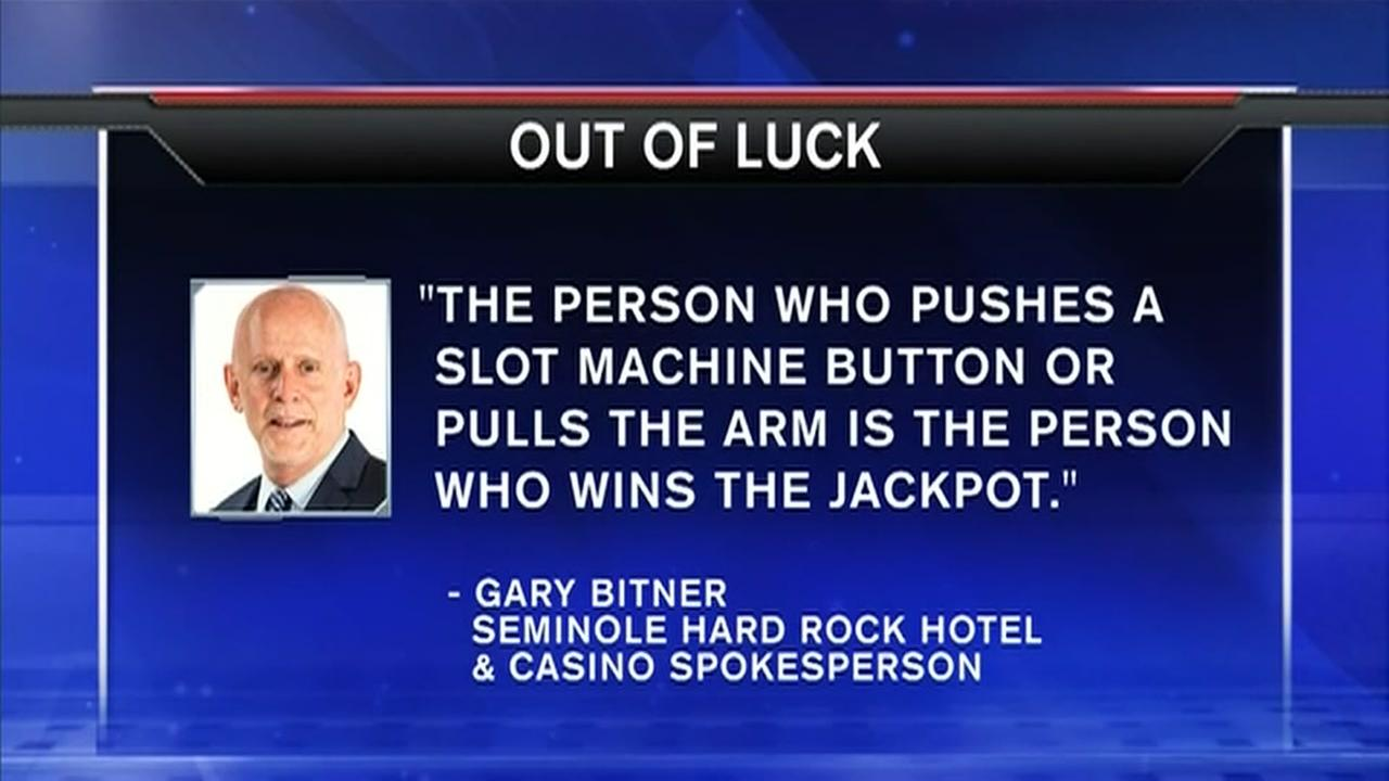 Man denied $100,000 jackpot because friend pushed the button