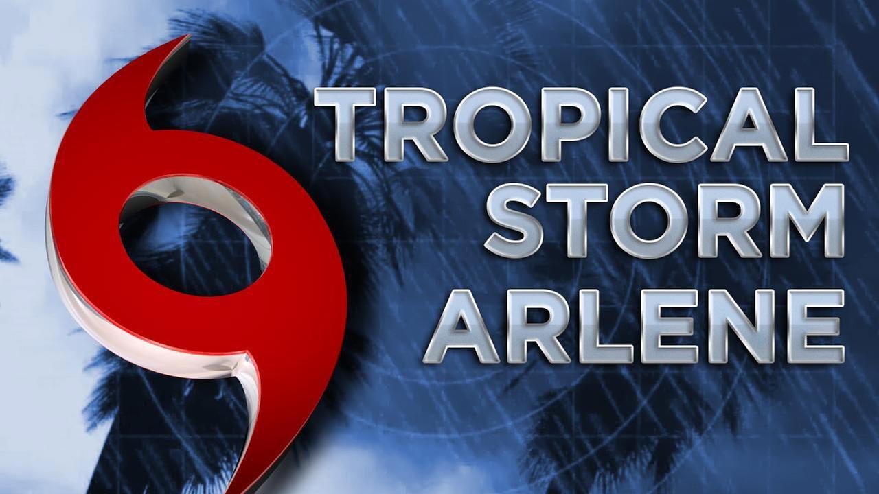 story tropical storm arlene forms north atlantic