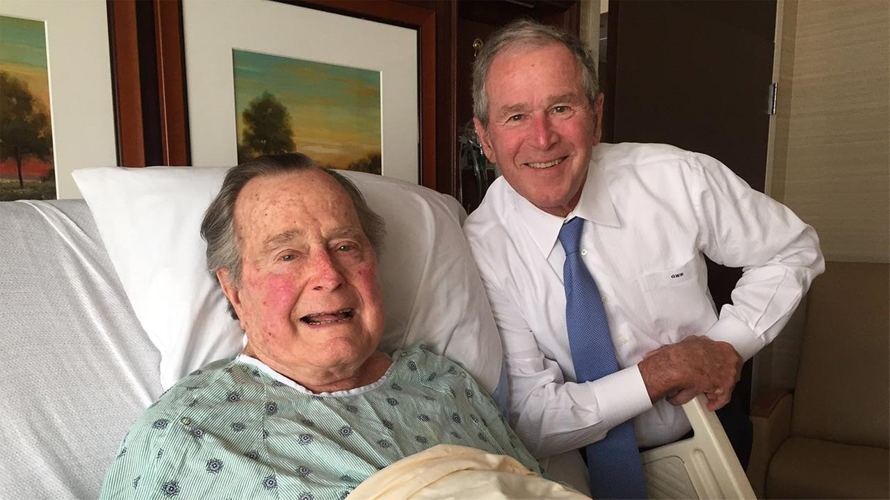 President George H.W. Bush cheered by high profile visitor while hospitalized