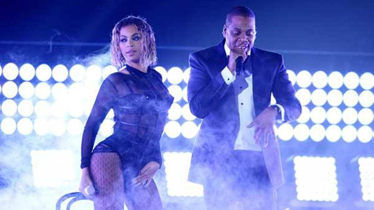 Beyonce, left, and Jay-Z perform at the 56th annual GRAMMY Awards at Staples Center on Sunday, Jan. 26, 2014, in Los Angeles. (Photo by Matt Sayles/Invision/AP)