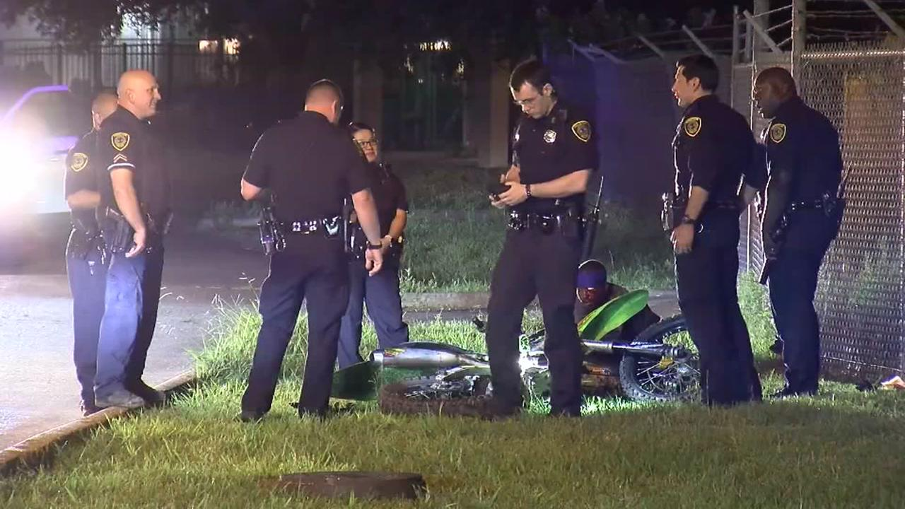 Man leads police on dirt bike chase before being arrested.
