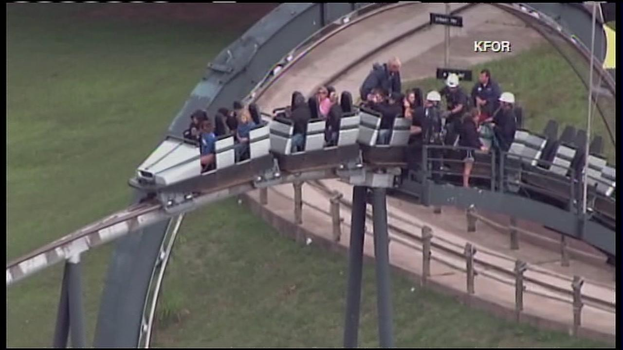 Dozens of people stuck on a roller coaster in Oklahoma City