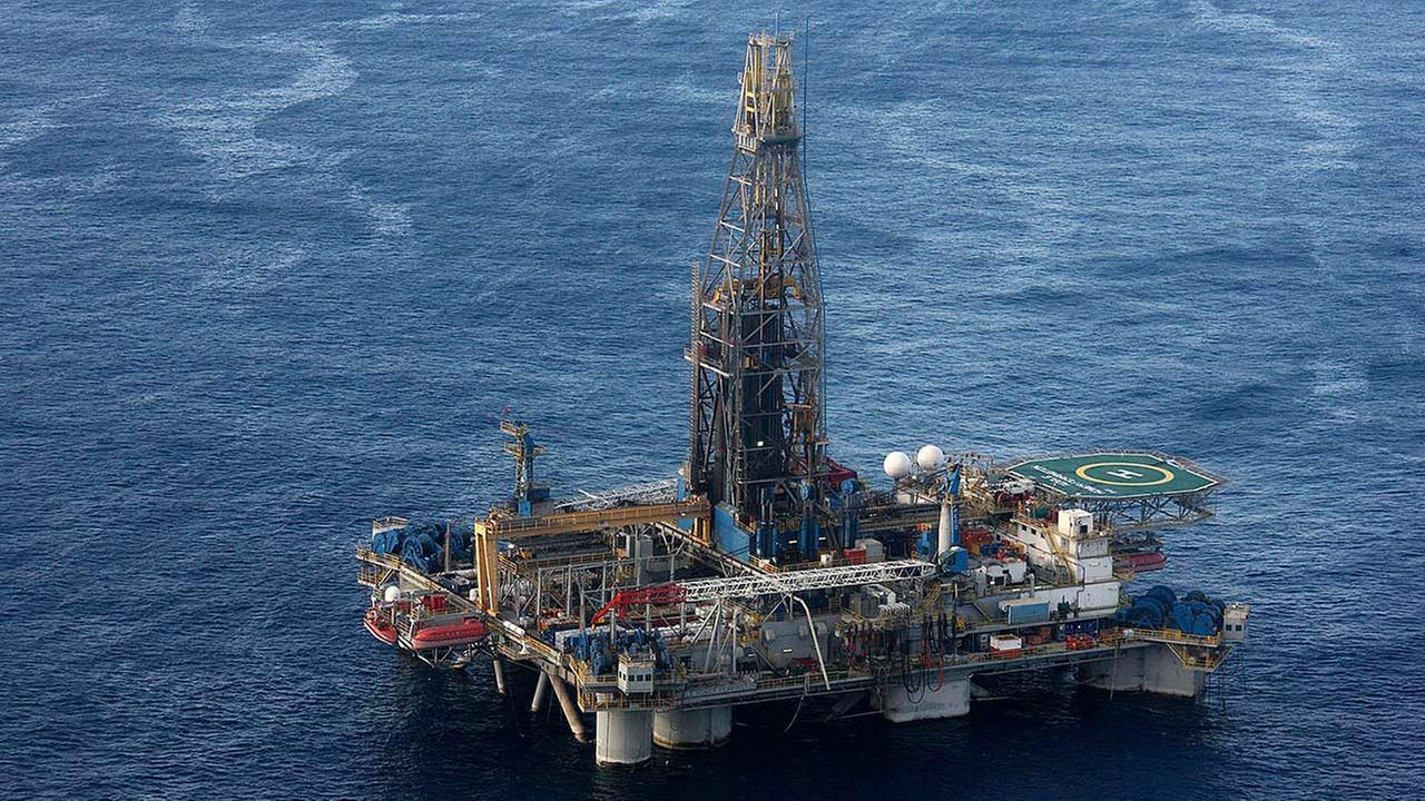 Noble Energy companys offshore oil and gas rig