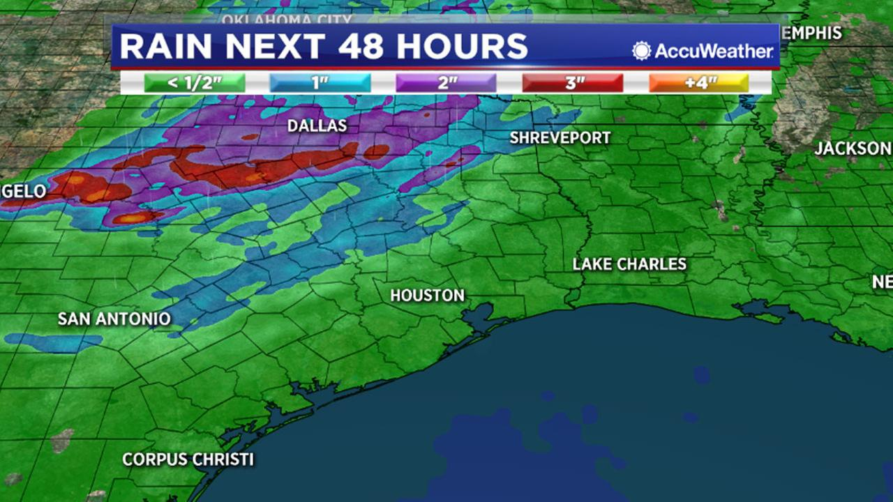 Rain expected near Houston