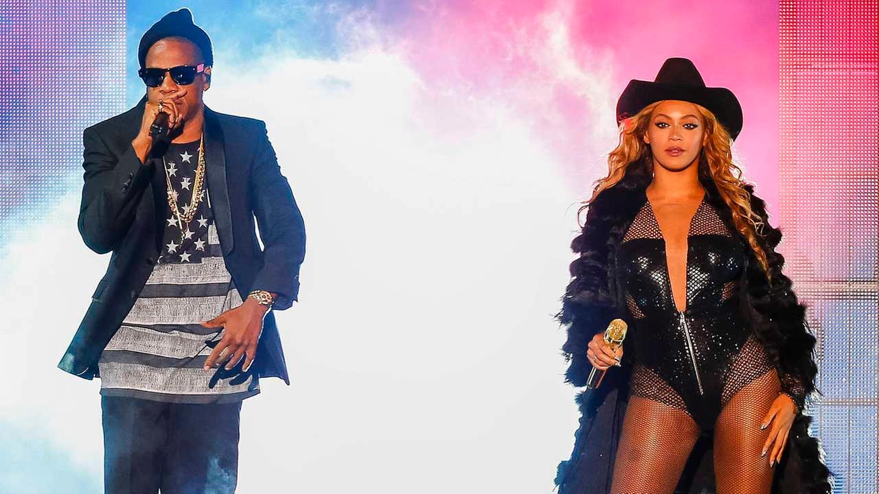 Beyonce and JAY Z perform during the On The Run tour at Minute Maid Park on Friday, July 18, 2014 in Houston, Texas