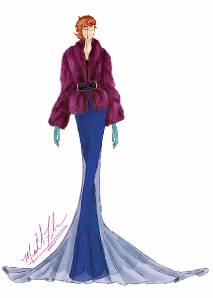 <div class='meta'><div class='origin-logo' data-origin='none'></div><span class='caption-text' data-credit='Michael Anthony Designs'>Inspired by Princess Anna from Disney's 'Frozen'</span></div>