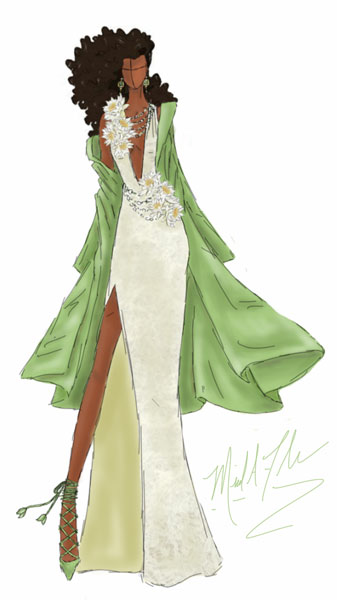 <div class='meta'><div class='origin-logo' data-origin='none'></div><span class='caption-text' data-credit='Michael Anthony Designs'>Inspired by Princess Tiana from Disney's 'The Princess and the Frog'</span></div>