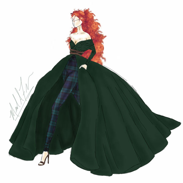 <div class='meta'><div class='origin-logo' data-origin='none'></div><span class='caption-text' data-credit='Michael Anthony Designs'>Inspired by Merida from Disney's 'Brave'</span></div>