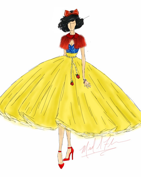 <div class='meta'><div class='origin-logo' data-origin='none'></div><span class='caption-text' data-credit='Michael Anthony Designs'>Inspired by Snow White from Disney's 'Snow White and the Seven Dwarfs'</span></div>