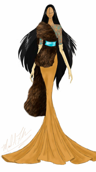 <div class='meta'><div class='origin-logo' data-origin='none'></div><span class='caption-text' data-credit='Michael Anthony Designs'>Inspired by Pocahontas from Disney's 'Pocahontas'</span></div>