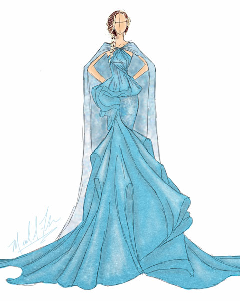 <div class='meta'><div class='origin-logo' data-origin='none'></div><span class='caption-text' data-credit='Michael Anthony Designs'>Inspired by Queen Elsa from Disney's 'Frozen'</span></div>