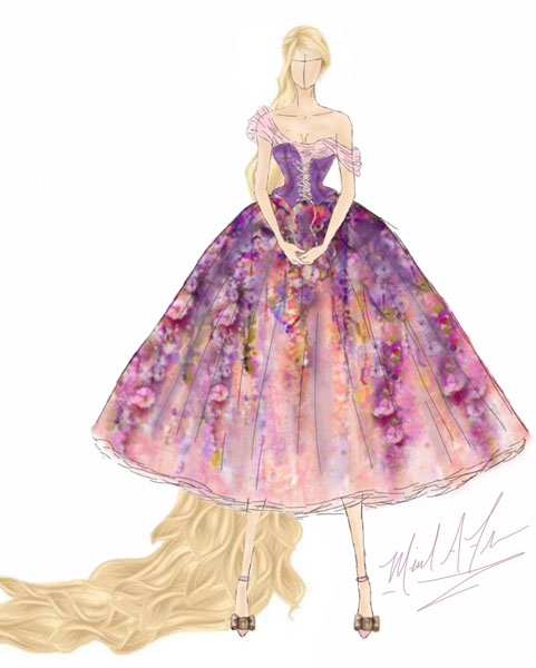 <div class='meta'><div class='origin-logo' data-origin='none'></div><span class='caption-text' data-credit='Michael Anthony Designs'>Inspired by Rapunzel from Disney's 'Untangled'</span></div>