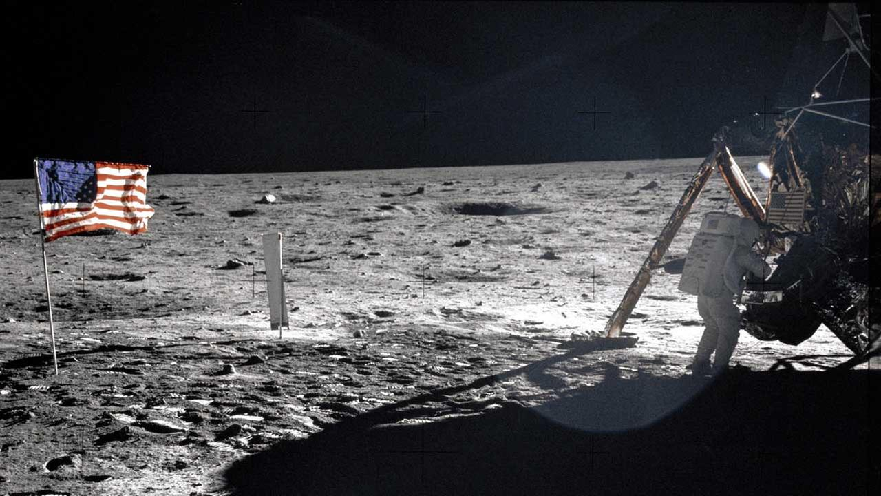 This July 20, 1969 file photo provided by NASA shows Apollo 11 astronaut Neil Armstrong on the lunar surface
