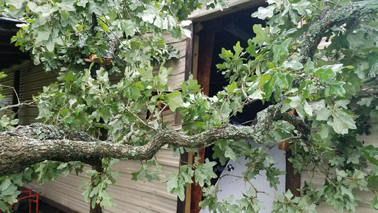 Storm damage reported in Austin County.Marc