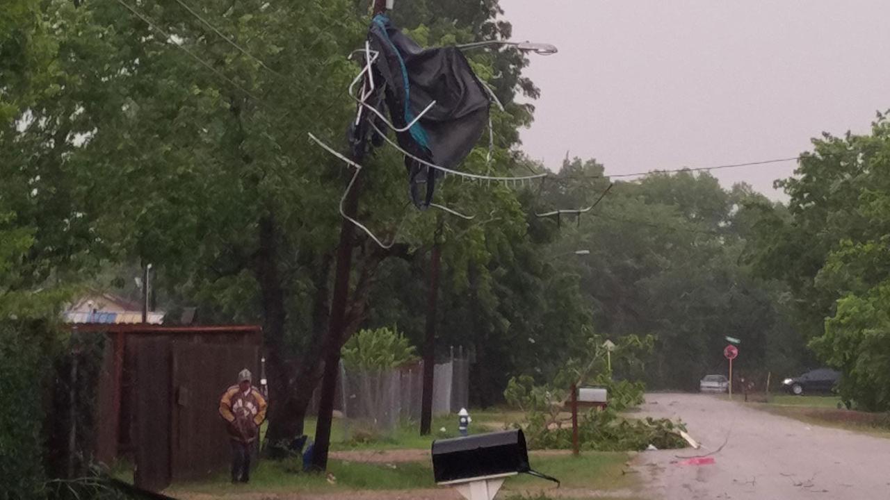 Storm damage in Fresno.Christine Ronzano