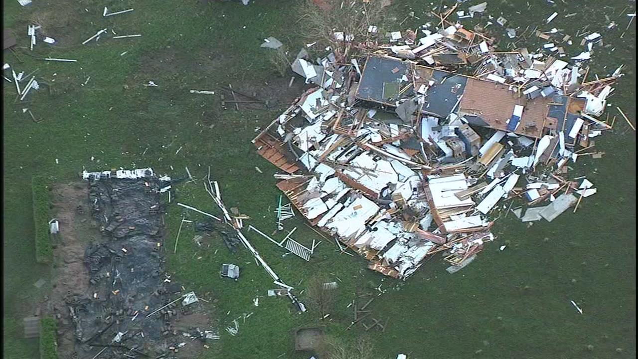 Severe damage left by storm in Sealy.