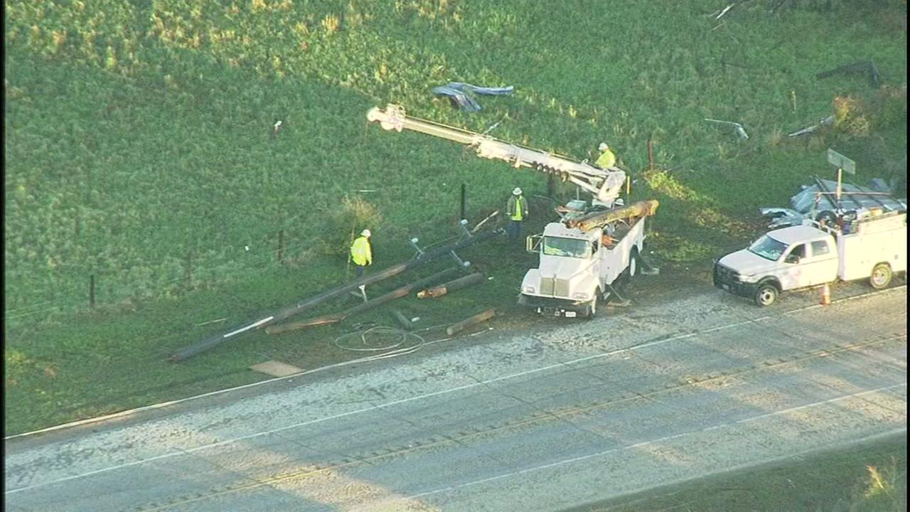 Crews begin cleaning up from severe storm damage in Sealy.