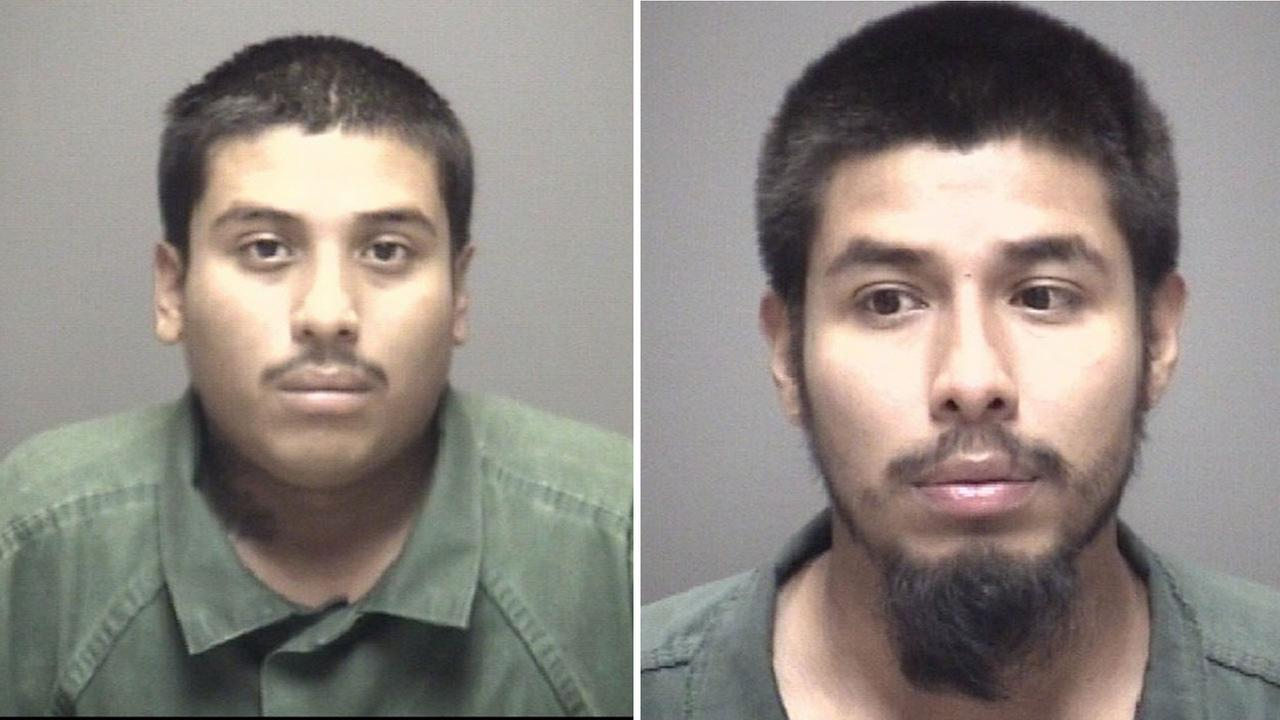 Ricardo Posada and Jamie Posada (right) charged in connection with deadly Alvin shooting.