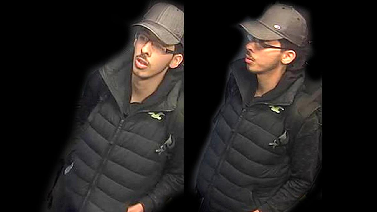 This is a handout photo taken from CCTV and issued on Saturday, May 27, 2017 by Greater Manchester Police who have altered the surrounding area of Salman Abedi.
