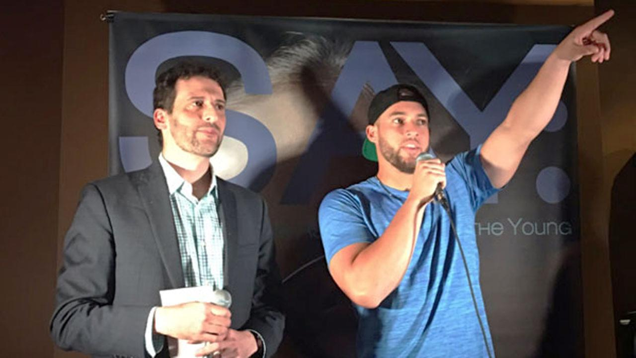 Astros outfielder George Springer (right) hosted his third annual All-Star Bowling Benefit on Sunday in downtown Houston.