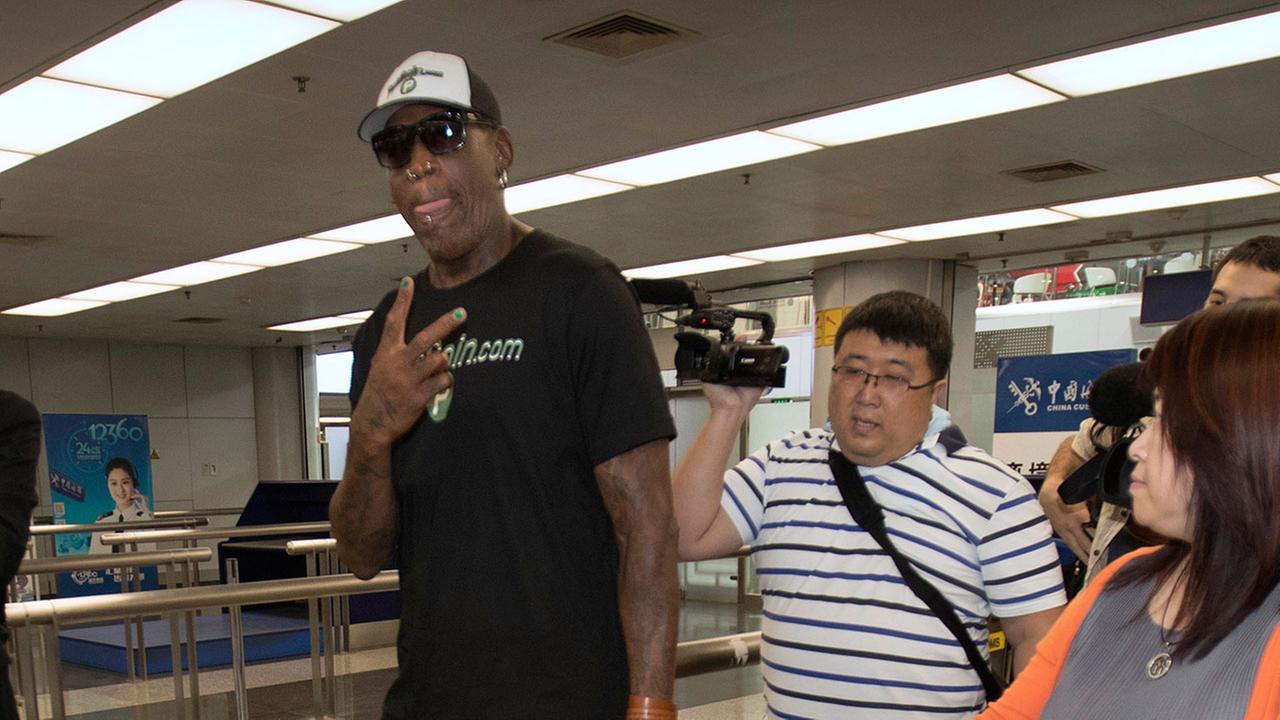 778d577a28 detroitnews.com Former NBA player Dennis Rodman returns to North Korea