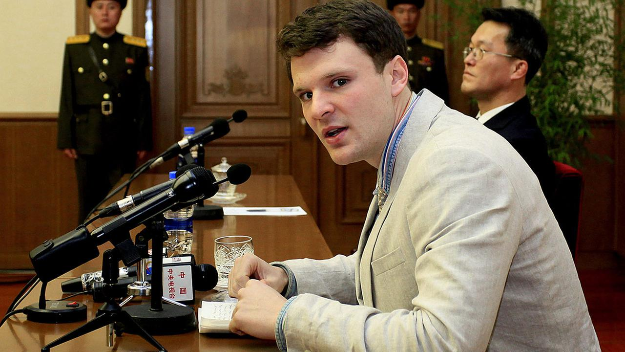 Family says US college student released by NKorea is in coma