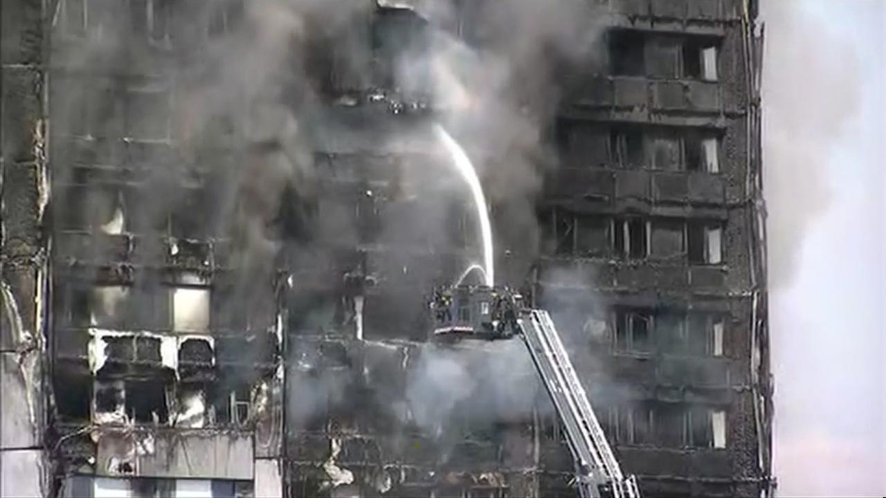 At least 6 dead in London high-rise fire