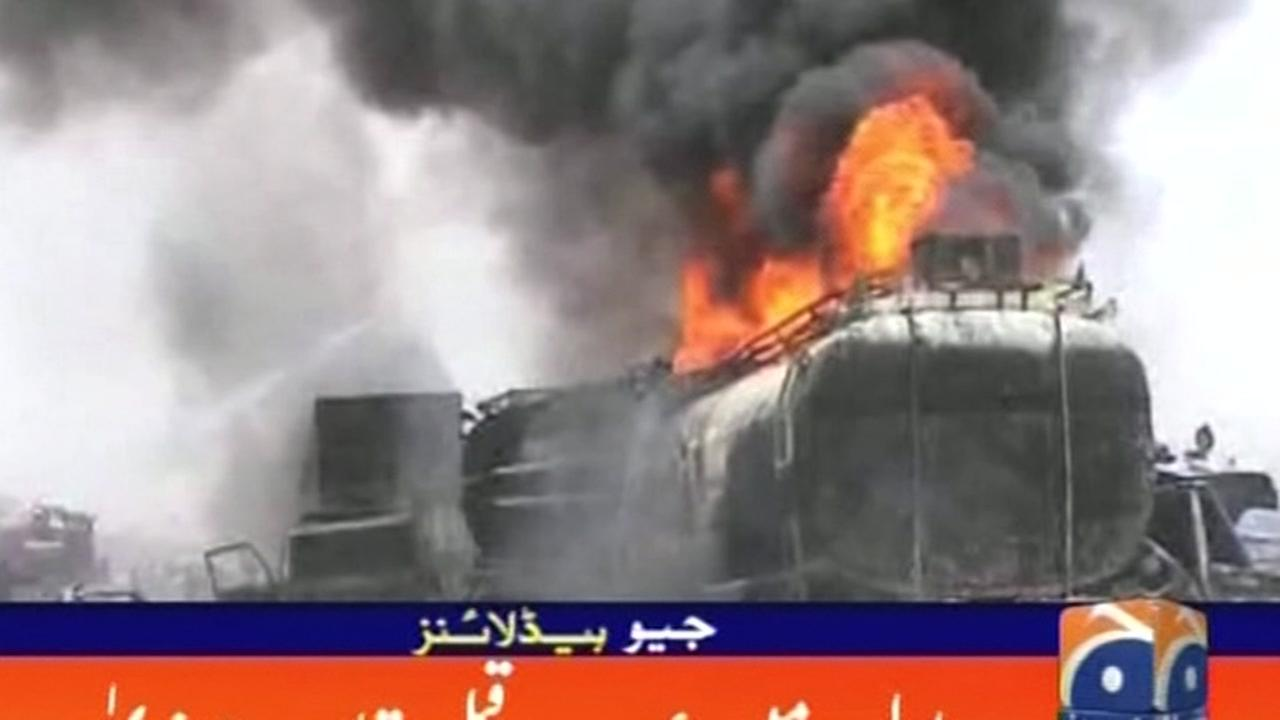 More than 150 killed in Pakistan oil tanker explosion.
