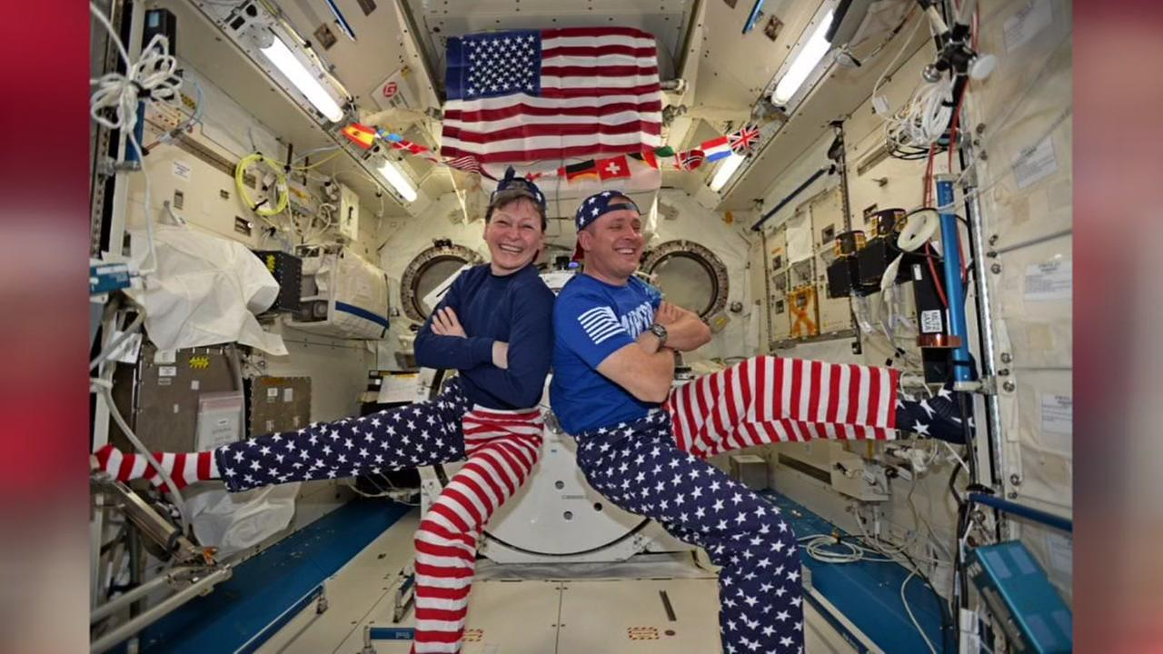 4th of July in space (Peggy Whitson/Twitter)Peggy Whitson