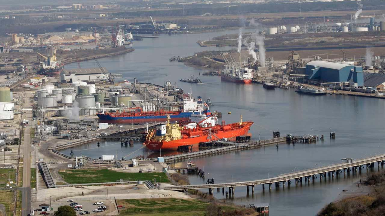 Petrochemical plants and refineries are shown along the Houston Ship Channel in this aerial view Friday, Jan. 21, 2011 near Houston.