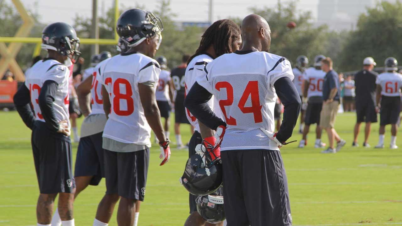 Players on Day 1 of the Texans training camp