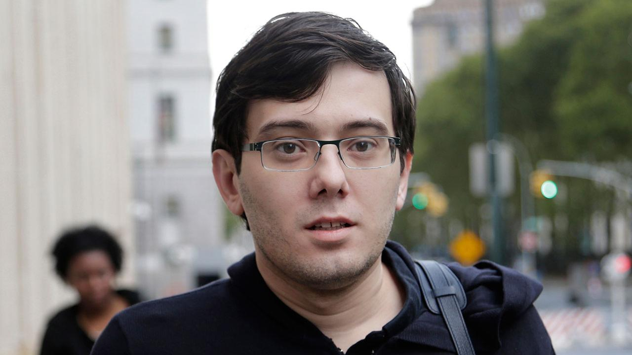 Martin Shkreli arrives at federal court in New York, Friday, Aug. 4, 2017.