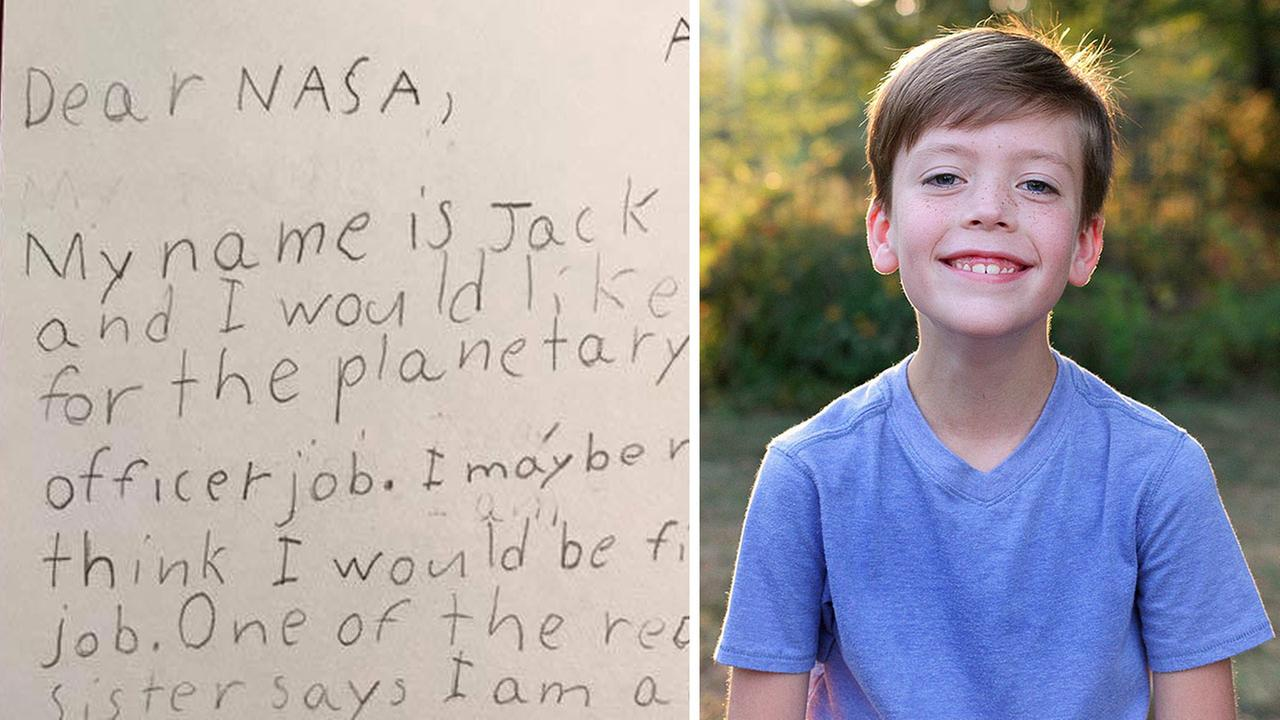 9-year-old self-described 'guardian of the galaxy' pens adorable letter asking NASA for a job