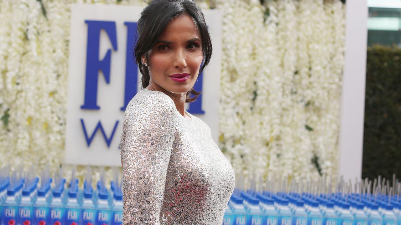 Padma Lakshmi arrives at the 68th Primetime Emmy Awards on Sunday, Sept. 18, 2016, at the Microsoft Theater in Los Angeles.