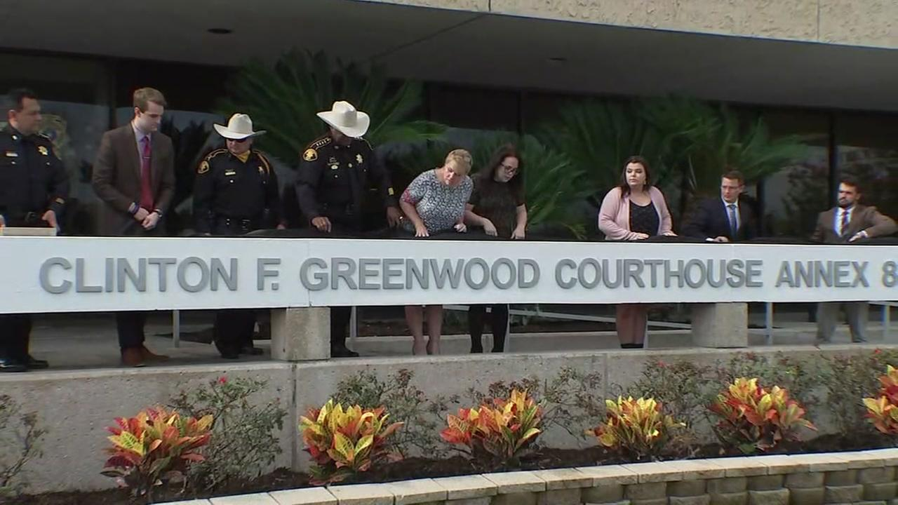 Baytown Courthouse Annex renamed in honor of Deputy Constable Clint Greenwood.