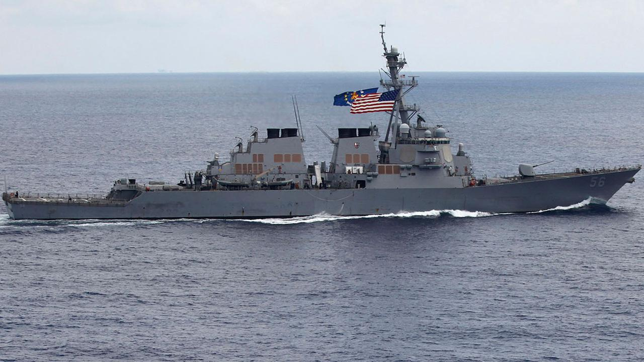 USS John S. McCain collides with merchant ship
