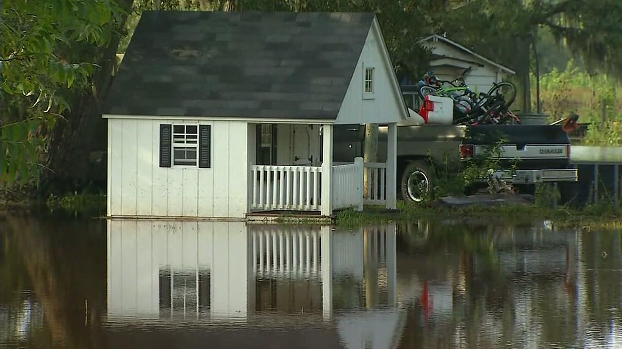 Residents in parts of Brazoria County still dealing with flooding, evacuations and disrupted sewer service.