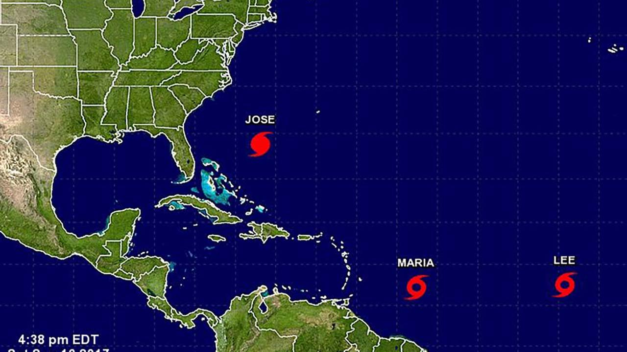 Tracking the tropics: Jose, Lee and Maria now eyeing land