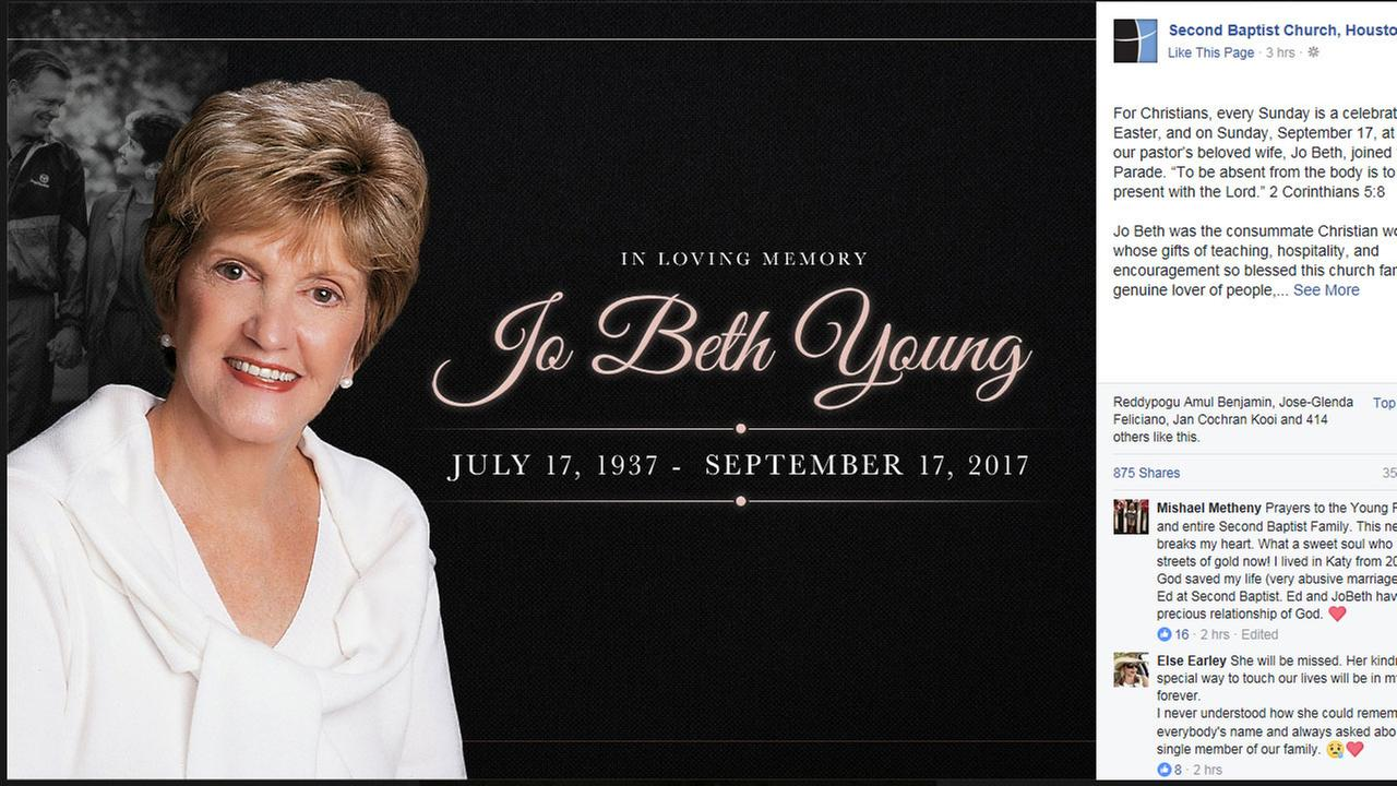 Jo Beth Young dead